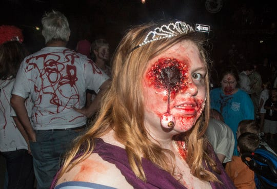 This was an eye-popping experience for some. There were many kinds of dead walking in downtown Montgomery on Friday, Sept. 28, 2018, for  Montgomery Zombie Walk and Prom, which collected food and money donations for the Montgomery Area Food Bank.