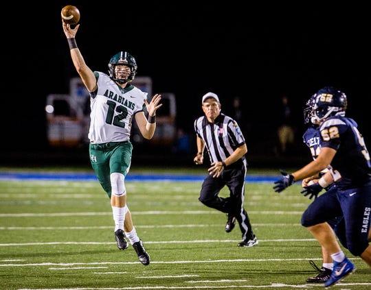 Pendleton Heights quarterback Christian Conkling