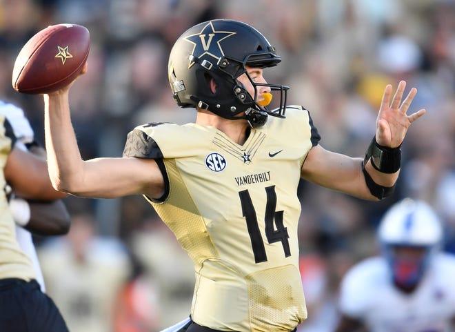 Vanderbilt quarterback Kyle Shurmur