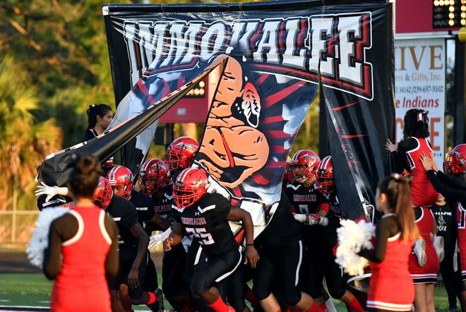Immokalee High School hosts Cypress Lake High School, Friday, Sept. 28, 2018.