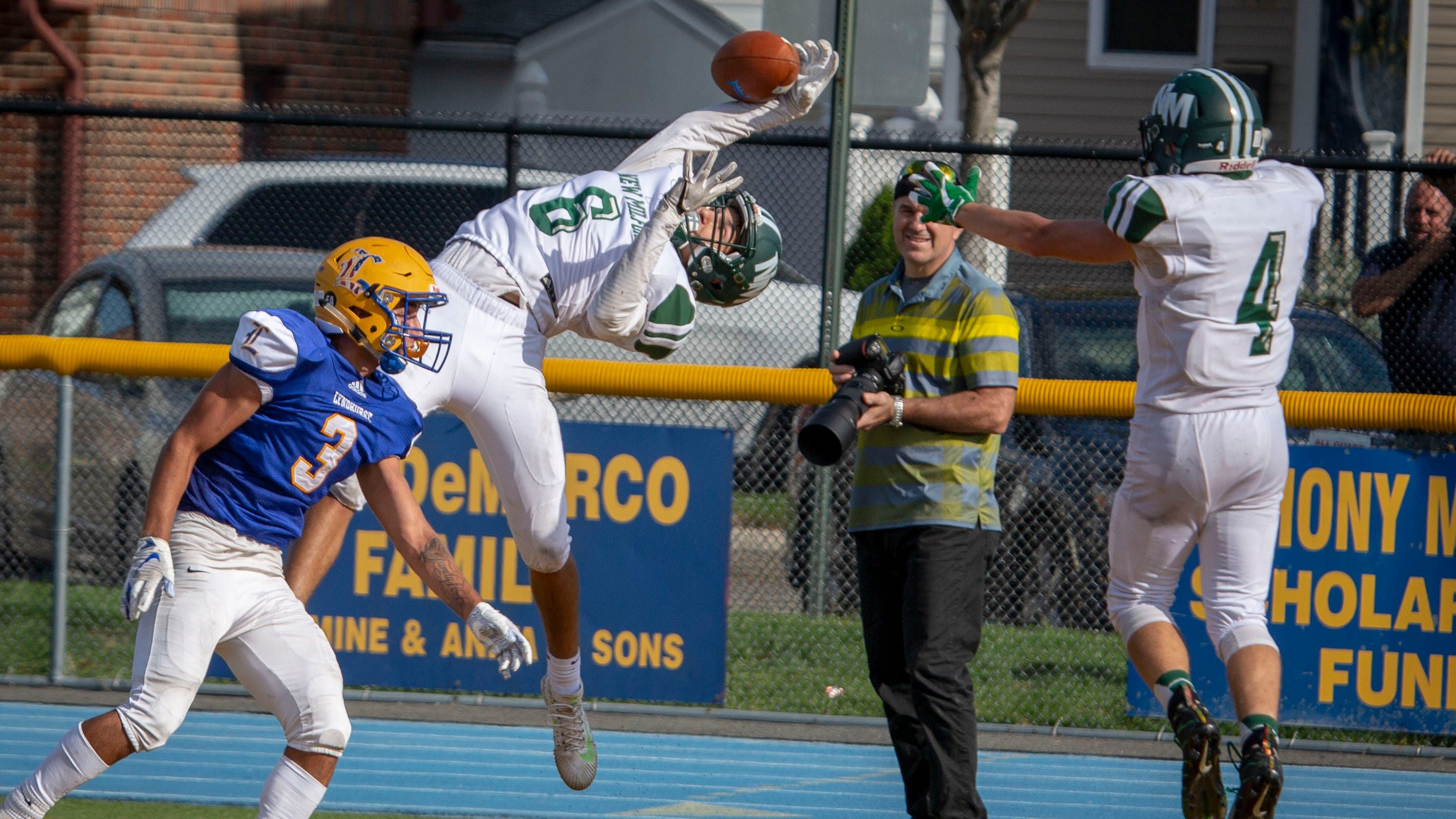 96e46682a07 New Milford football survives in 2OT, denies Lyndhurst first win over  Knights since 2004