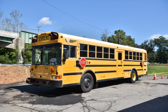 The Wayne K-12 district donated an old school bus to the first aid squad to use during training.