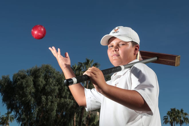 Blake Fields an 11-year-old Croquet prodigy at his home turf at Mission Hills Country Club in Rancho Mirage on Thursday, September 27, 2018.
