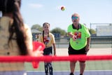 Tennis legend Rosie Casals introduce the game to Coachella Valley kids