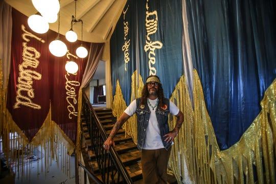 Brant Bjork at his home studio in Twentynine Palms on Wednesday, September 26, 2018.