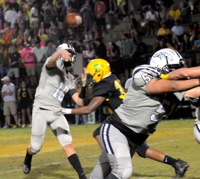 American Heritage quarterback Ryan Bohanon three for four touchdowns, including two fourth quarter scores as the Stallions defeated Pensacola Catholic 34-30.