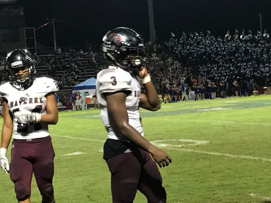 Navarre's Chris Williams (3) had a big game against Pace with three touchdowns in team's 40-30 win.