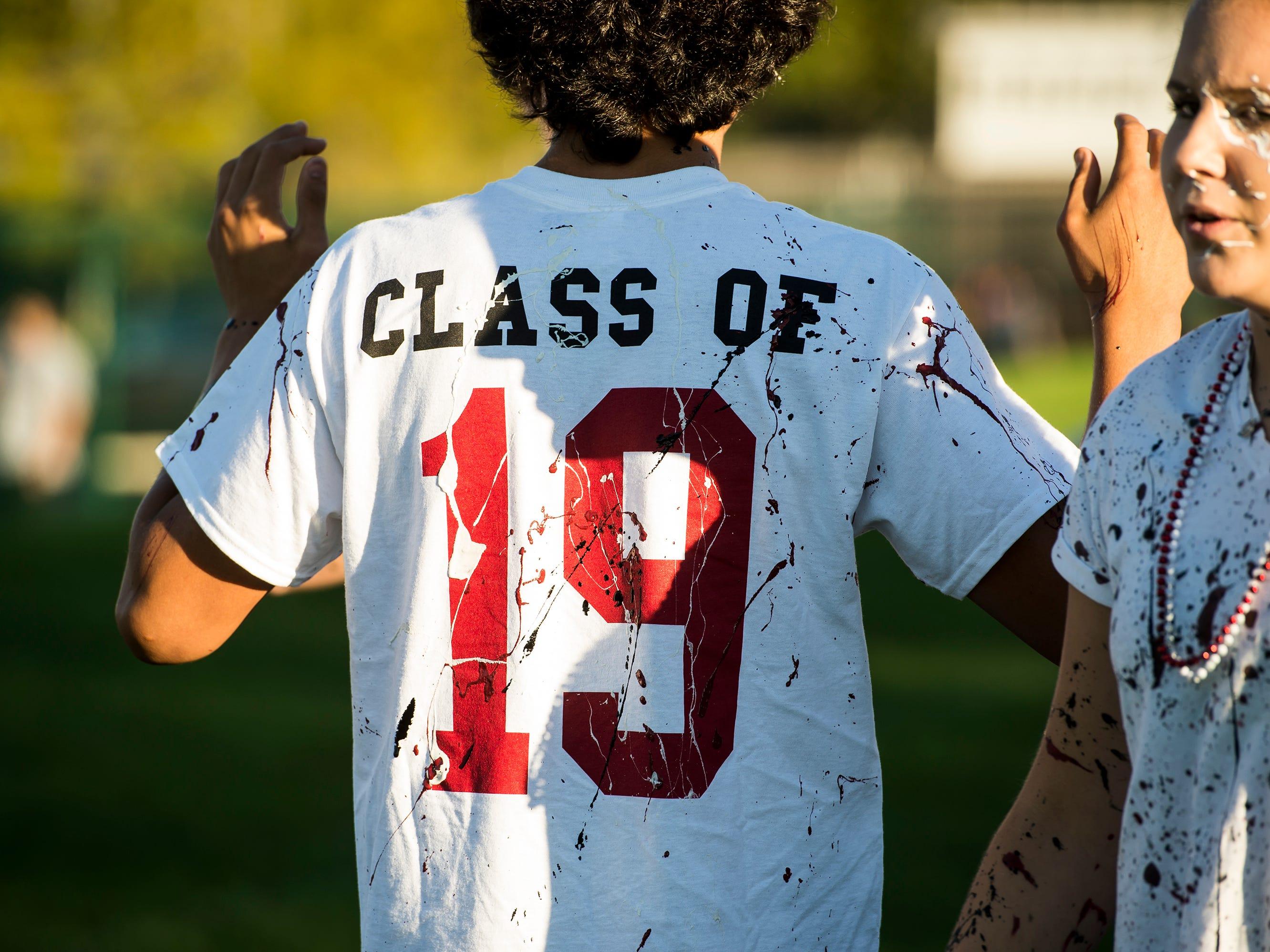 "Gettysburg Area High School students held a ""splatter-fest"" prior to Friday's football game against Eastern York."
