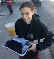 Rabbi Shmuel Tiechtel delivered chicken soup to ASU student Neta Galili outside her dormitory when she was under the weather.