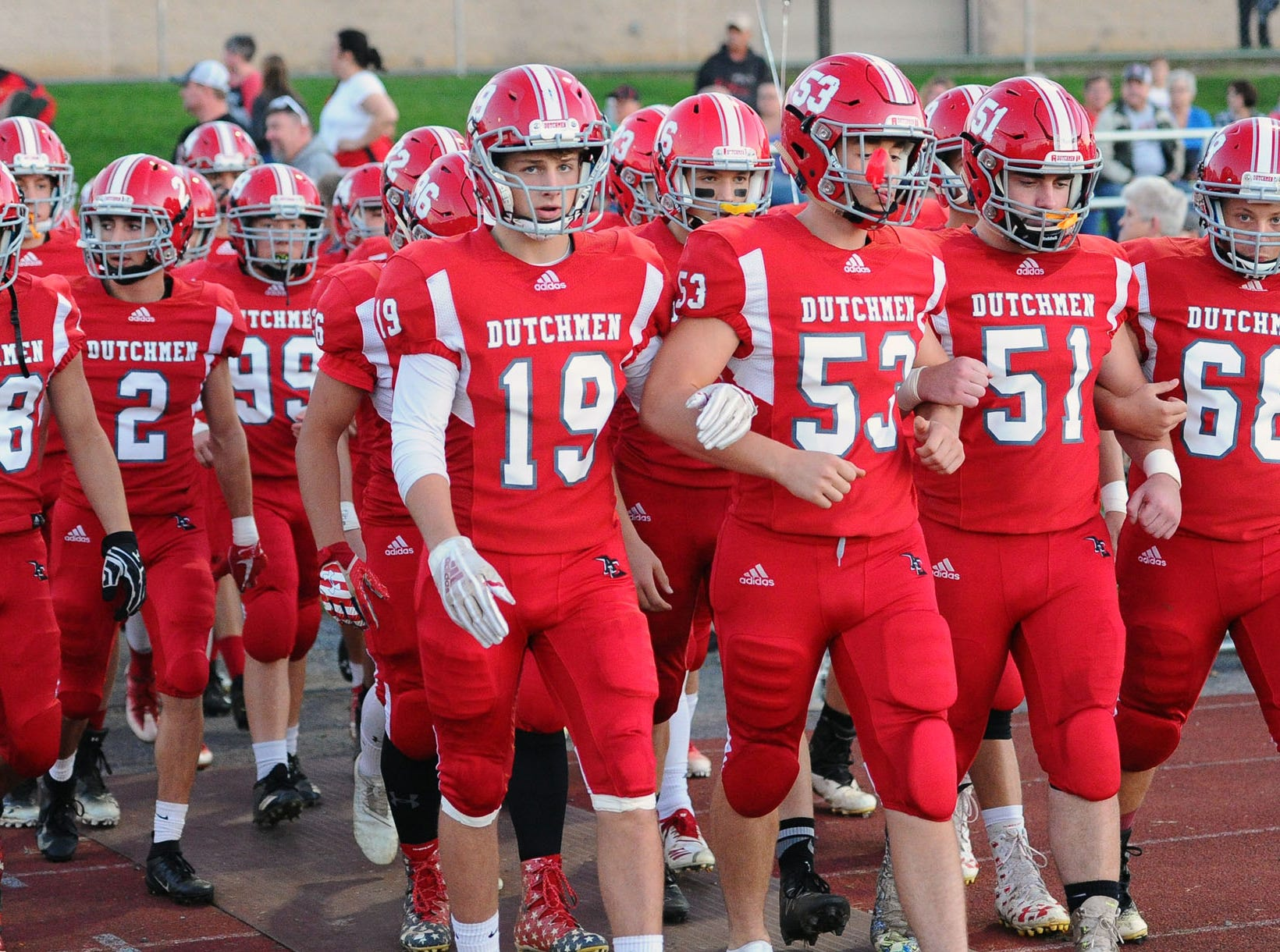 The Annville Cleona Dutchmen can clinch a home game in the district playoffs with a win at Lebanon on Friday night.