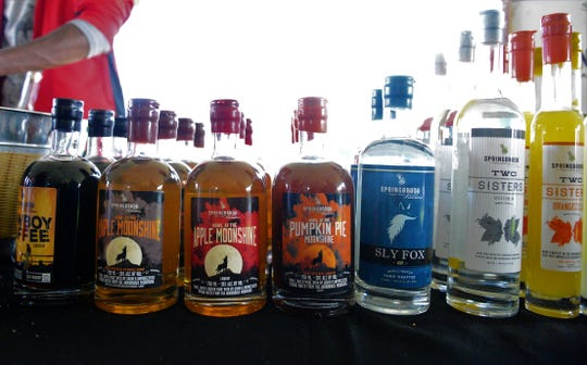 Springbrook Hollow Farm Distillery from Queensbury offered samples of moonshine, gin, 'cellos and vodka at the  Wine, Cider and Food Truck Festival on Saturday.