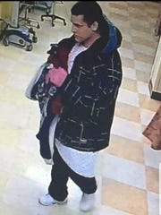 Surveillance photo of Joshua Stuart at Ellenville hospital