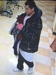 Surveillance photo of Joshua Stuart at Ellenville hospital