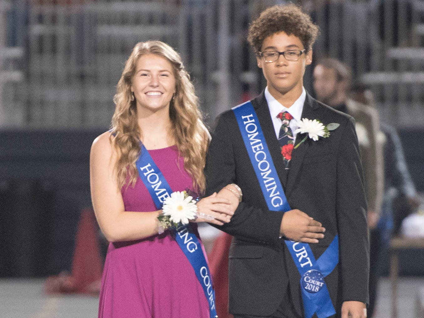 The homecoming court made an appearance at halftime. Chambersburg Trojans are 5-1 after a homecoming victory over Cumberland Valley 28-14 in PIAA football on Friday, Sept. 28, 2018.