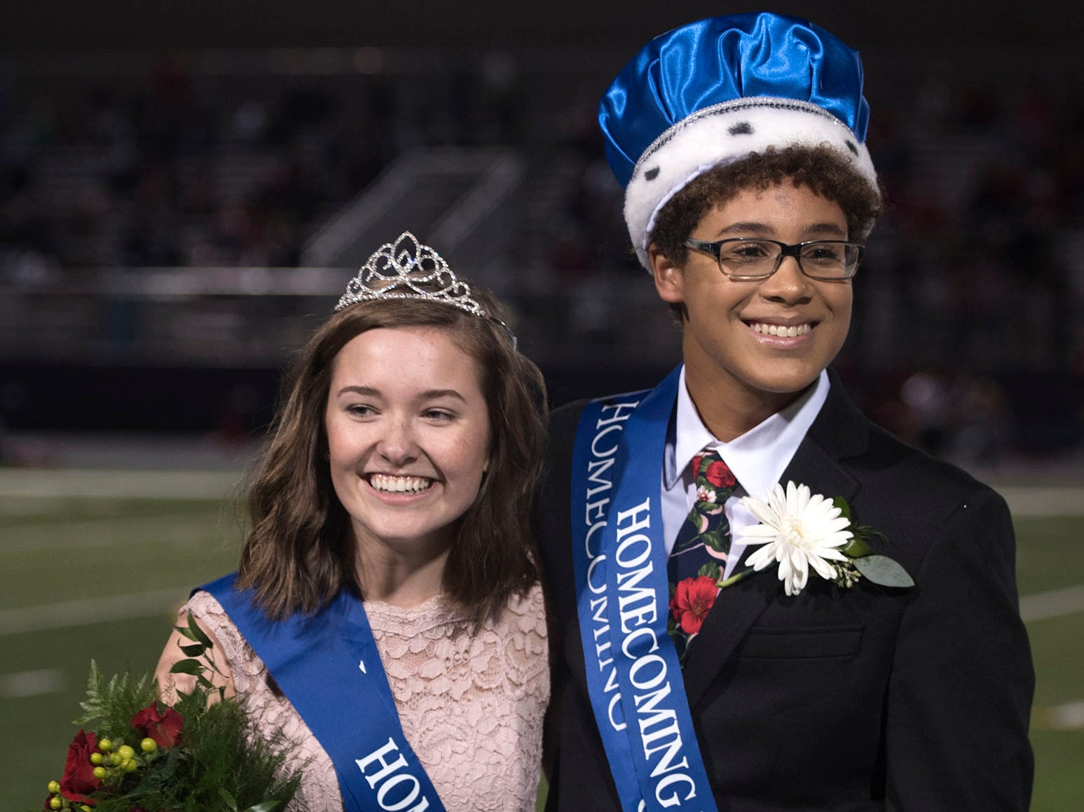 Keith Elijah Thomas and Elise Monheim are homecoming king and queen. Chambersburg Trojans are 5-1 after a homecoming victory over Cumberland Valley 28-14 in PIAA football on Friday, Sept. 28, 2018.