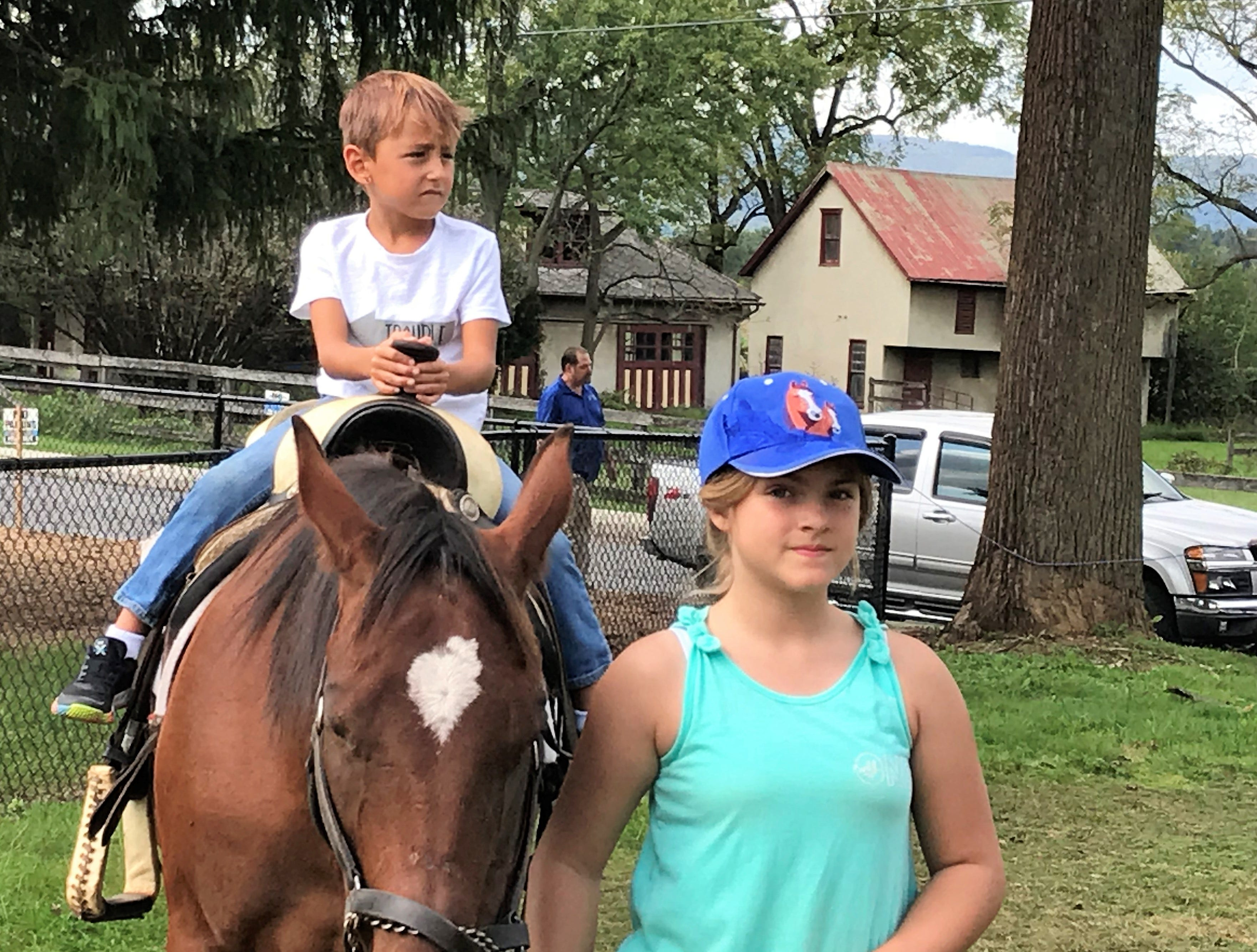 Connor Cook, Fort Loudon, rides a horse on Saturday, Sept. 29, 2018, at Mercersburg Townfest.