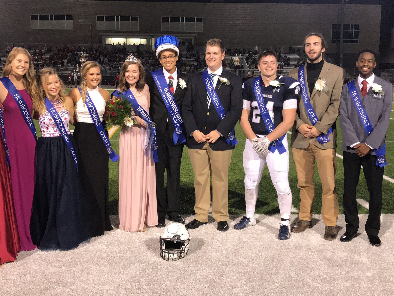 The homecoming court poses for photos. Chambersburg Trojans are 5-1 after a homecoming victory over Cumberland Valley 28-14 in PIAA football on Friday, Sept. 28, 2018.