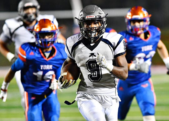 Dallastown's Nyzair Smith is on pace to rush for more than 2,000 yards in a second straight season.