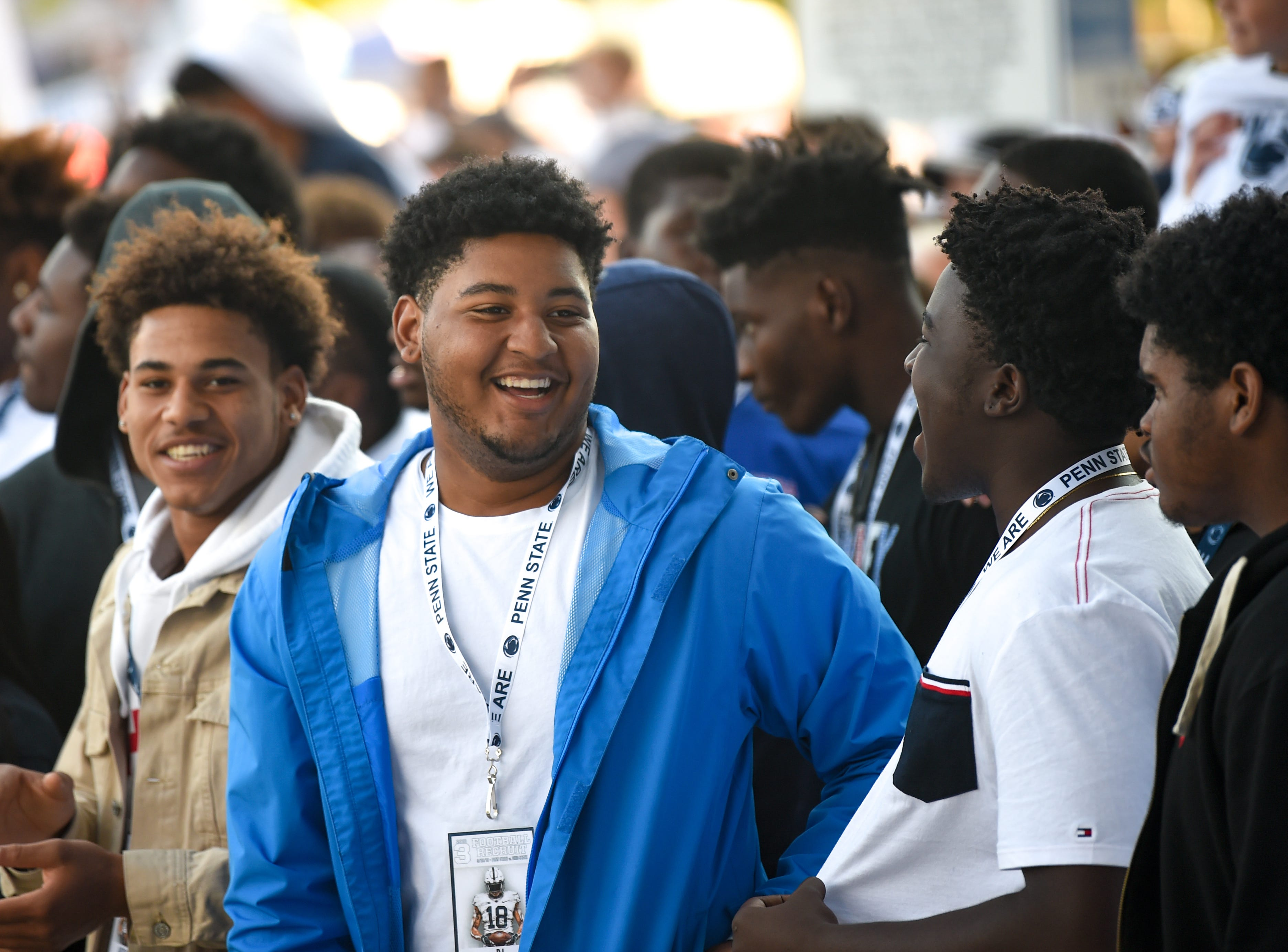 The top recruits from around the country get a taste of Beaver Stadium's atmosphere before Penn State's big game against the Ohio State University, Saturday, September 29, 2018.
