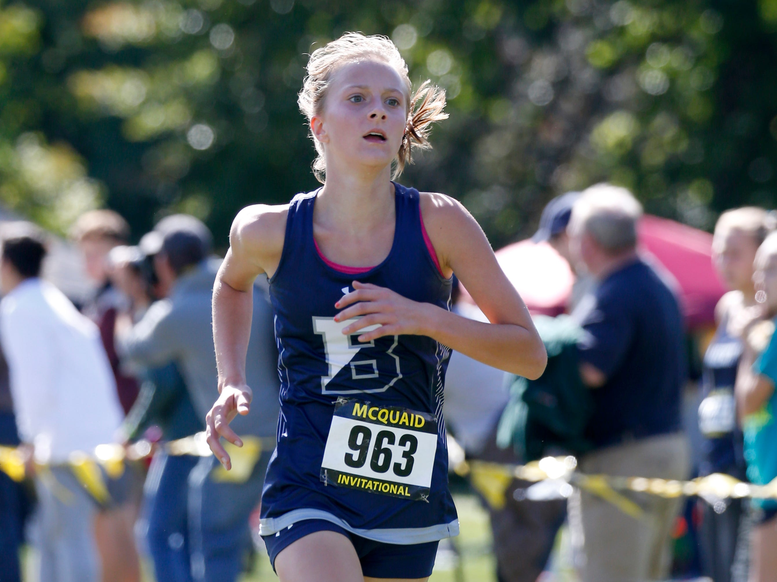 Girls Varsity AA (Seeded Medium schools) Tony Canali Memorial race: 12th place Eilee Ossont of Brighton 19:04.5.