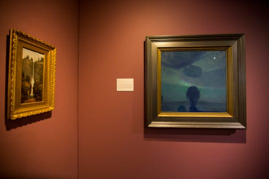 Across the Valley of the Morin – Clouded Night: An oil on canvas blue abstract by Edward Steichen.