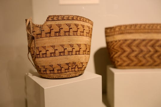 Clatsop basket, circa the 1830s.