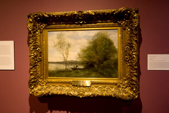 A Balmy Afternoon: The 19th-century oil on canvas landscape by French painter Jean-Baptist-Camille Corot.