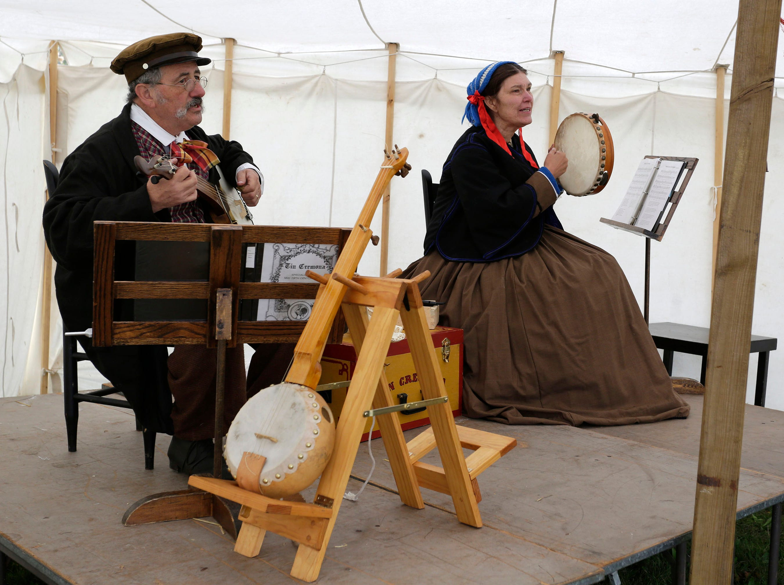 People could experience the music of the Civil War era during the Civil War Weekend at the Wade House, Saturday September 29, 2018, in Greenbush, Wis.