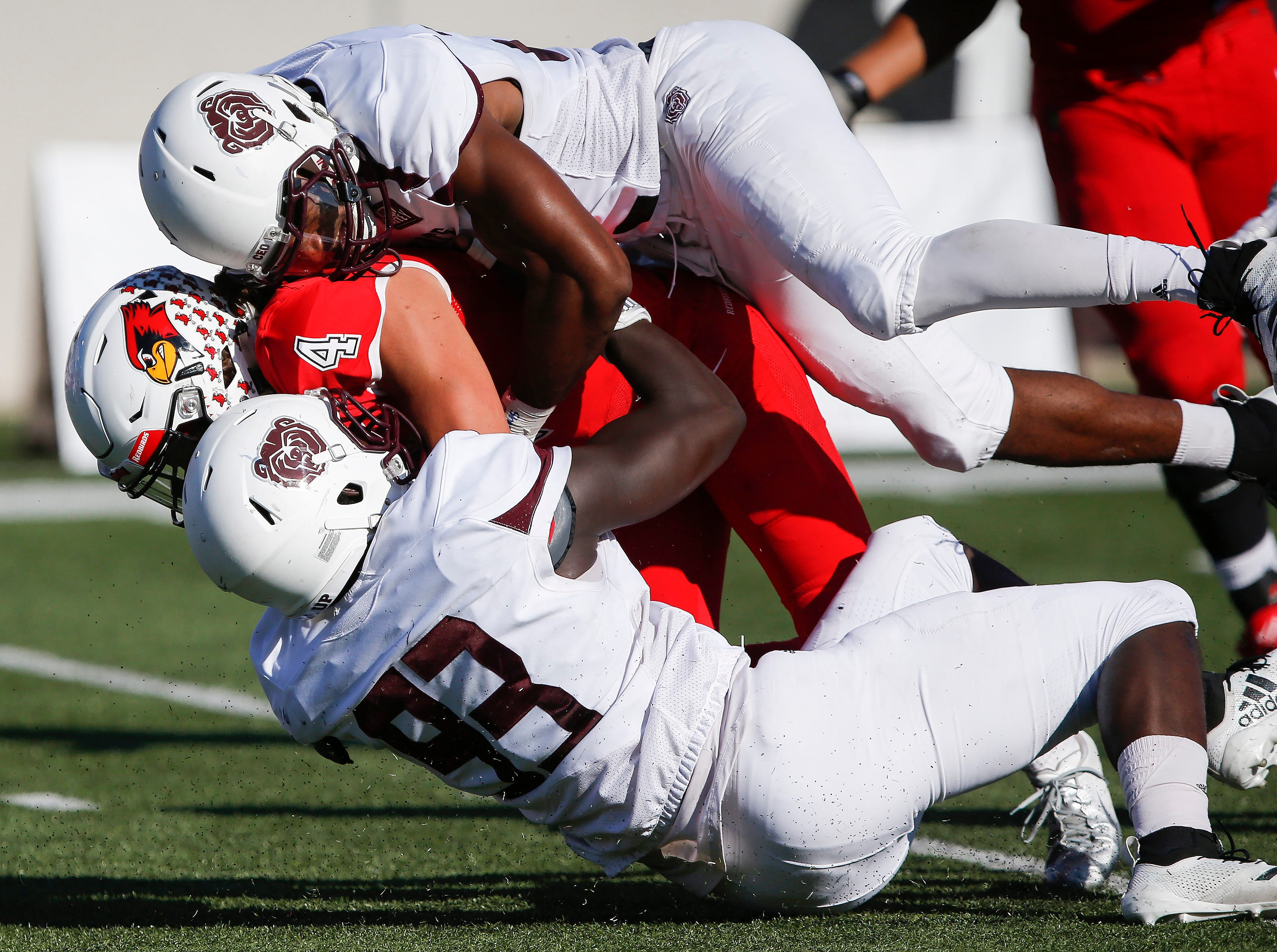 The Missouri State Bears defeated the Illinois State Redbirds 24-21 at Plaster Stadium on Saturday, Sept. 29, 2018.
