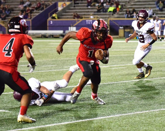 Despite missing 14 quarters this season, East Rockingham's J'wan Evans has rushed for just over 2,000 yards to lead the Eagles.