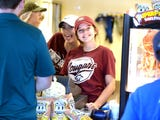 The Stuarts Draft volleyball team worked the concession stand at JMU for the Valley Football Classic Saturday. It was a fundraiser for the Cougars.