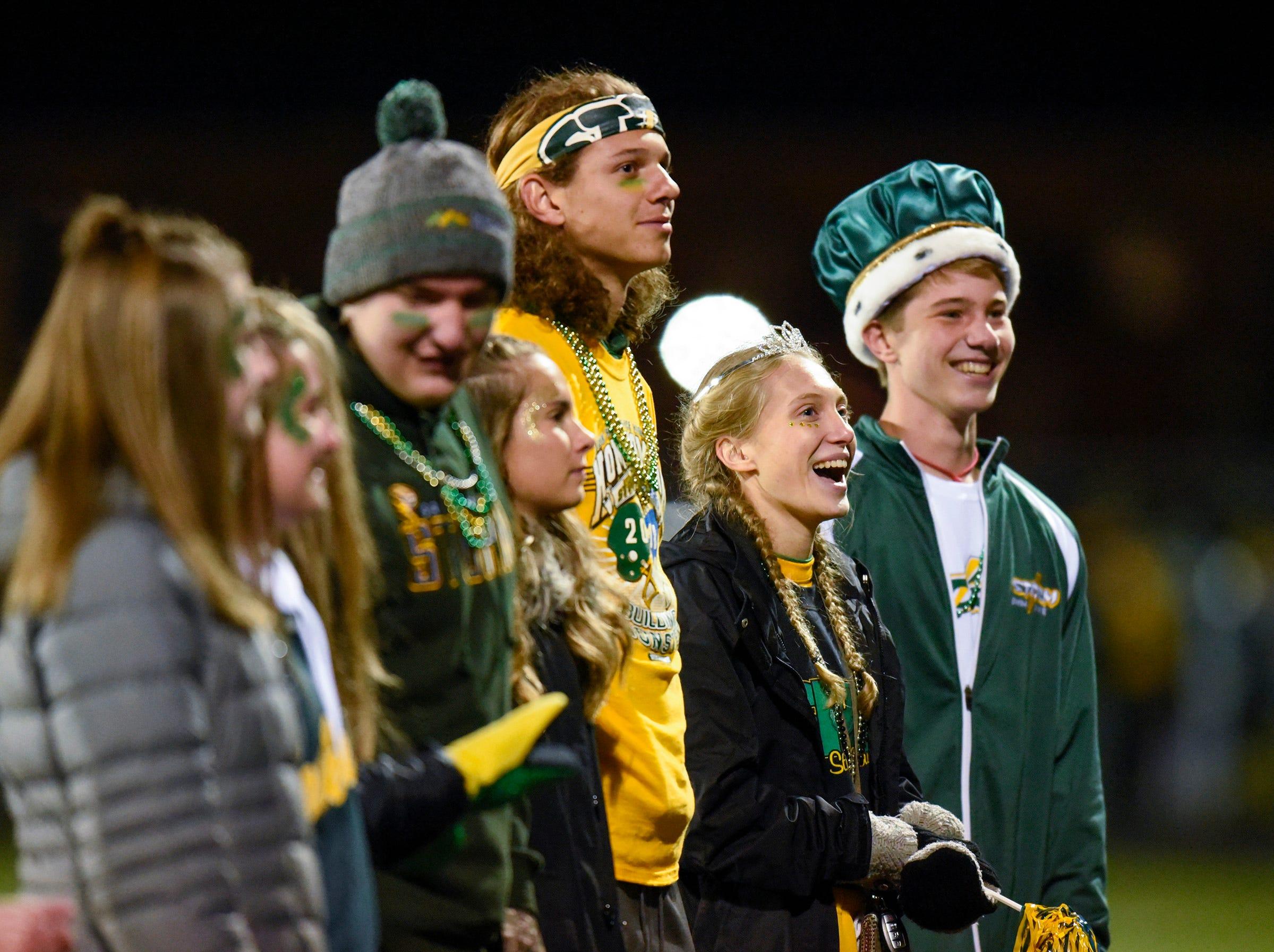 Sauk Rapids' homecoming royalty is introduced during halftime Friday, Sept. 28, in Sauk Rapids.