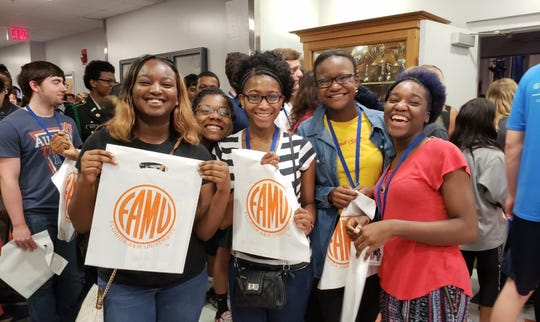 Florida A&M University President Larry Robinson visited three high schools in Georgia during a campus tour last week.