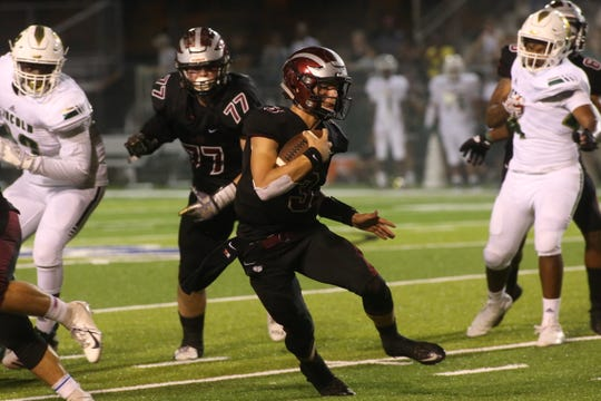 Lincoln faces Chiles in a high school football game at Gene Cox Stadium on Friday, September 28, 2018.