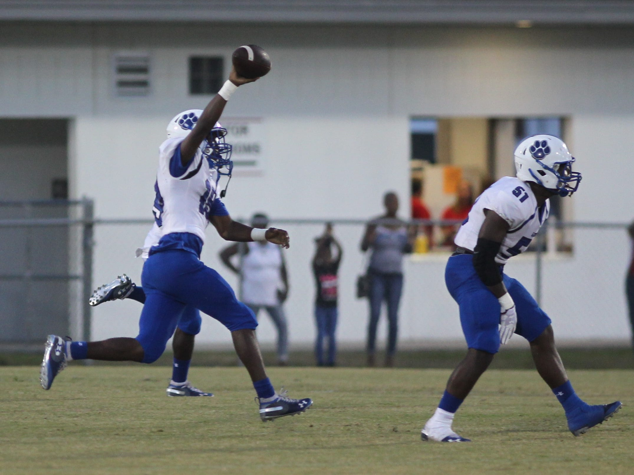 Godby's Quandre Ray comes up with a fumble on the opening kickoff as Godby beat Wakulla 37-13 on Friday night.