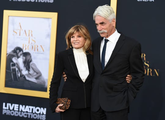 "Katharine Ross, left, and Sam Elliott arrive at the Los Angeles premiere of ""A Star Is Born"" on Monday, Sept. 24, 2018, at the Shrine Auditorium."