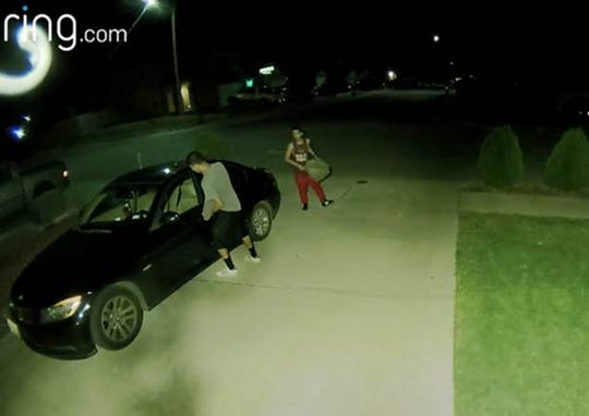 Three men are sought in an investigation of vehicle burglaries in the Northeast.