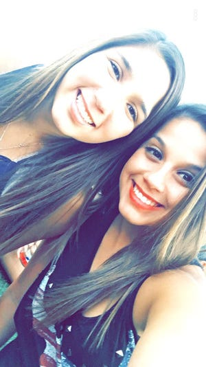 Sisters Anissa and Marissa Chacon at the Route 91 Harvest country music festival last year.