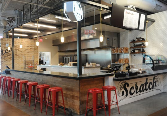 Scratch Sandwich Counter is located inside The Annex Food Hall at The Collection at RiverPark in Oxnard. It features a menu of local, seasonal dishes by executive chef and co-owner Tim Kilcoyne.
