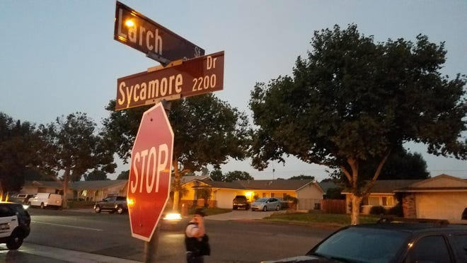 This was the scene Friday night after a teenager was reportedly holed up in a home with a gun in the 200 block of Sycamore Drive in Simi Valley.