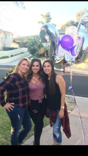 Tammy Hanna with her daughters Marissa and Anissa. Marissa and Anissa Chacon both are survivors of the Las Vegas shooting at the Route 91 Harvest country music festival.