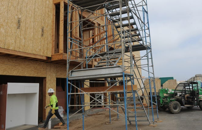 An apartment project under construction near Springville Drive and Ponderosa Drive in Camarillo would include affordable units for seniors.