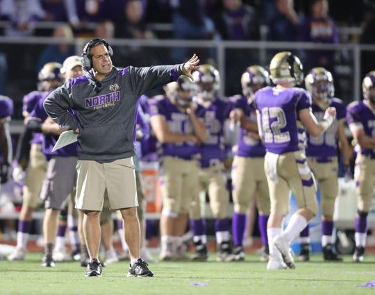 Clarkstown North head coach Joe Trongone.