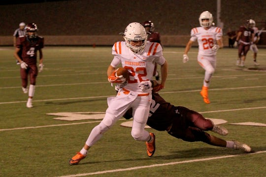 Burkburnett's Brice Westbrook and the Bulldogs head into district with a 3-2 record.