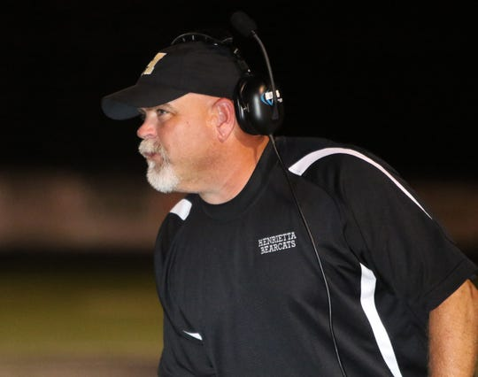 Henrietta coach Byron West is entering his 15th season leading the Bearcats. He is one of only 12 area coaches to ever reach that longevity with one school.