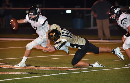 Archer City's Coltin Knobloch (60) was the 6-2A Division II Defensive MVP this season.