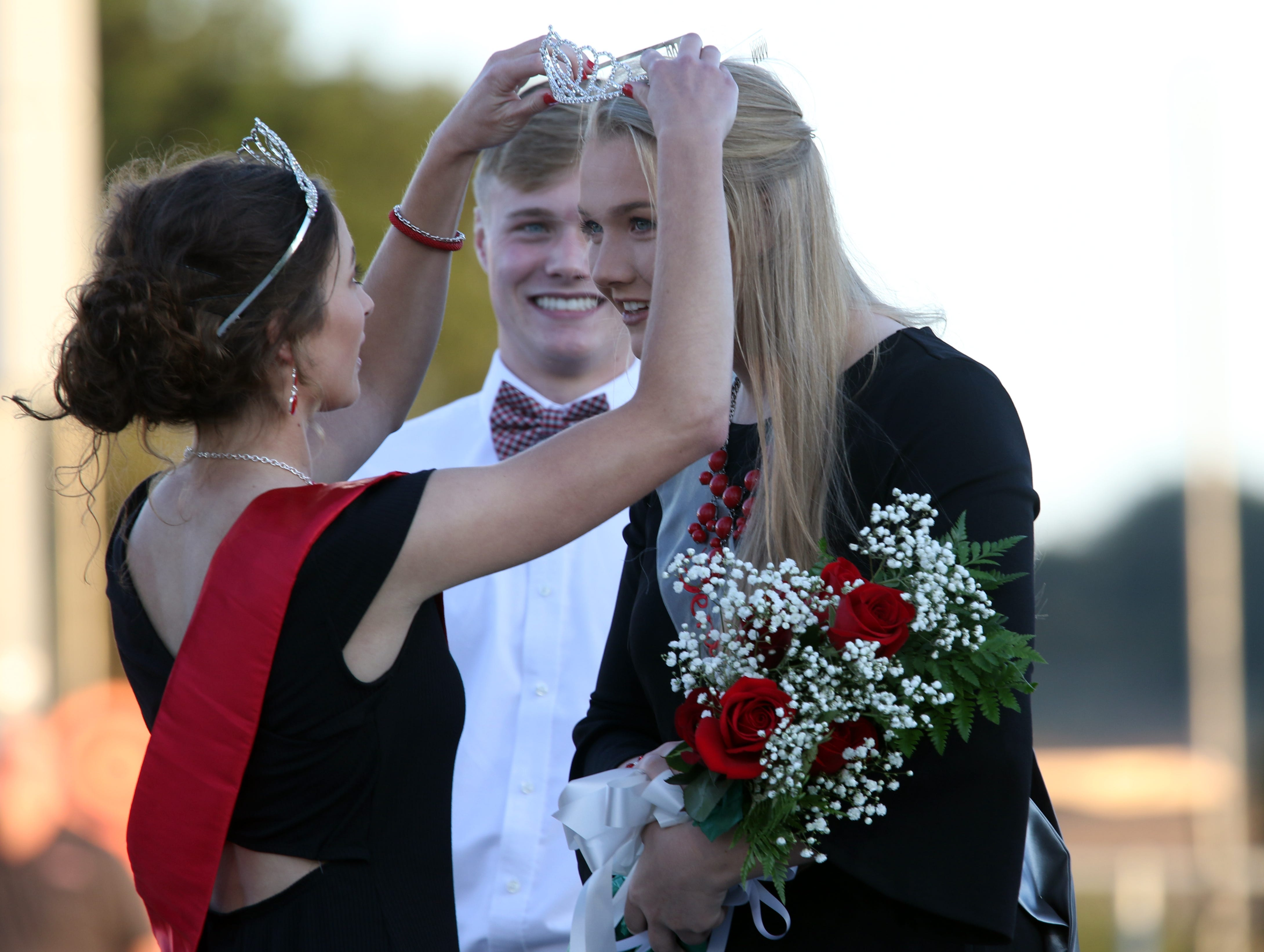 Mikayla Rhodes was named the Sheridan High School homecoming queen Friday night before the Generals' game againt Philo.
