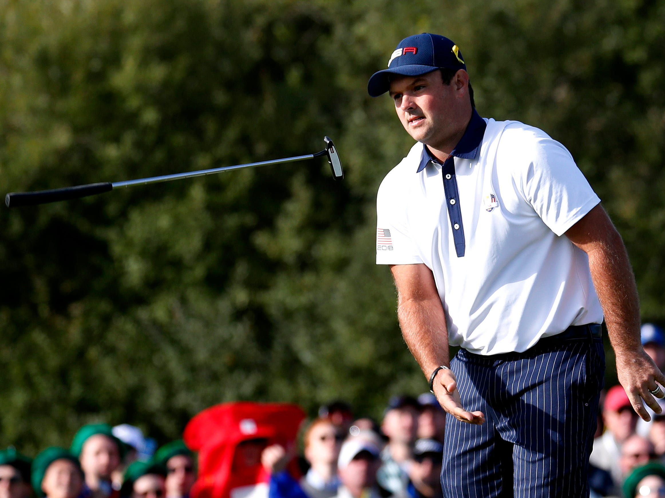 But it wasn't to be for Reed, who was paired with Tiger Woods. They lost Saturday morning to Tommy Fleetwood and Francesco Molinari.