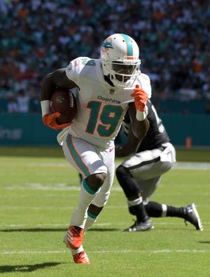 The Miami Dolphins  and wide receiver Jakeem Grant are off and running to an unbeaten start.
