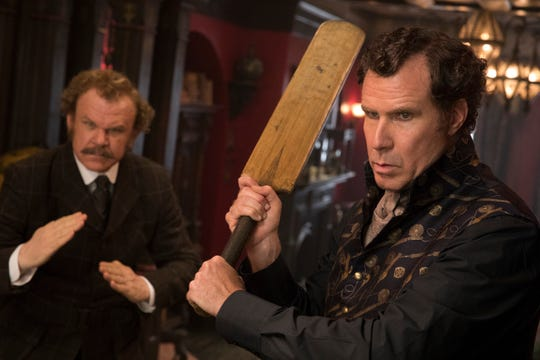"""Holmes & Watson"" stars John C. Reilly, left, and Will Ferrell as two bumbling but brilliant sleuths attempting to stop an attempt on the queen's life."
